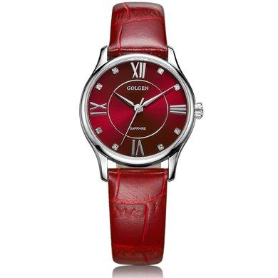 古尊(GOLGEN)手表 時尚系列石英女表紅色GN.19010L.PE