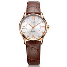 古尊(GOLGEN)手表 时尚系列石英女表棕色GN.19010L.RS