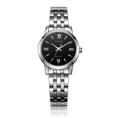 古尊(GOLGEN)手表 商務系列石英女表黑色GN.19007L.PB