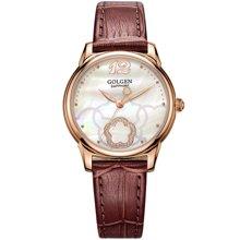 古尊(GOLGEN)手表 优雅系列石英女表棕色GN.19013L.RS.F