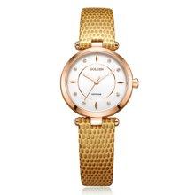 古尊(GOLGEN)手表 时尚系列石英女表白色GN.19006L.RSY