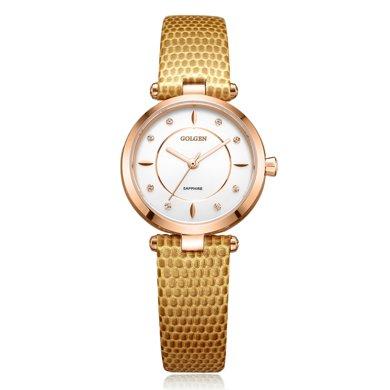 古尊(GOLGEN)手表 時尚系列石英女表白色GN.19006L.RSY