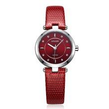 古尊(GOLGEN)手表 时尚系列石英女表红色GN.19006L.PEE