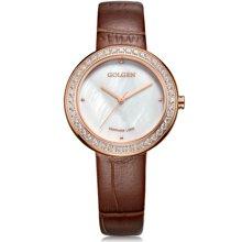 古尊(GOLGEN)手表 优雅系列石英女表棕色GN.19012L.RS.F