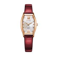 古尊(GOLGEN)手表 优雅系列酒桶型防水石英女表红色GN.19015L.RS.E