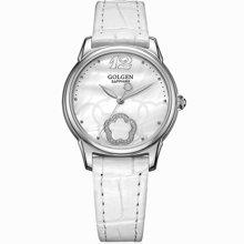 古尊(GOLGEN)手表 优雅系列石英女表白色GN.19013L.PS