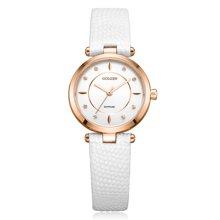 古尊(GOLGEN)手表 时尚系列石英女表白色GN.19006L.RSW