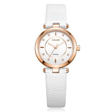 古尊(GOLGEN)手表 時尚系列石英女表白色GN.19006L.RSW