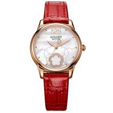 古尊(GOLGEN)手表 优雅系列石英女表红色GN.19013L.RS.E