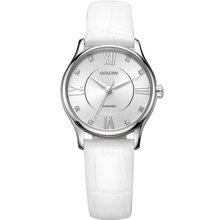 古尊(GOLGEN)手表 时尚系列石英女表白色GN.19010L.PS