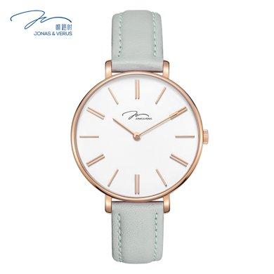 唯路時(JONAS&VERUS)手表薄款時尚方糖色石英女表X01855-Q3.PPWLH