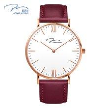 唯路时(JONAS&VERUS)手表 简尚白盘皮带石英女表X01646-Q3.PPWLR