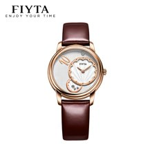飛亞達(FIYTA)手表海洋系列石英女表白盤皮帶L560.PTR