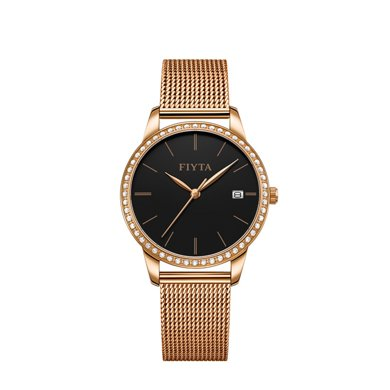 飛亞達手表女傾城系列編織鋼帶石英表時尚簡約女士手表DL865000