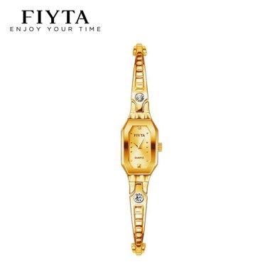 飛亞達(FIYTA)手表 玲瓏系列專柜款 石英手鏈女表 鐘表 金色女款- L501.GGG