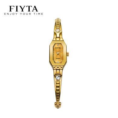 飛亞達(FIYTA)鋼帶別致珠寶扣女士石英手表L1501/DL28000【3色可選】