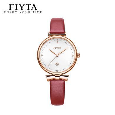 飛亞達(FIYTA)Young+系列手表時尚優雅防水女士石英手表DL10025.PWR
