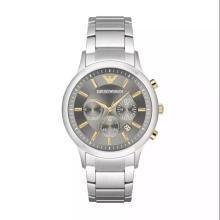 [支持购物卡]阿玛尼(Emporio Armani)手表 钢制表带经典时尚休闲石英男士腕表 AR11047