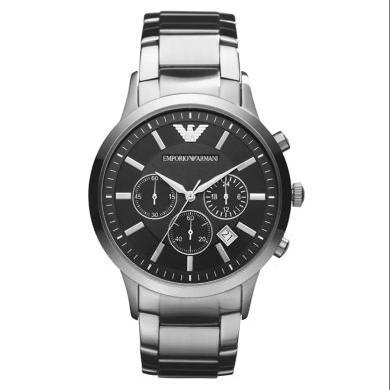 [支持购物卡]阿玛尼(EmporioArmani)手表钢制表带经典时尚休闲石英男士腕表AR2434
