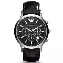 [支持購物卡]阿瑪尼(Emporio Armani)手表男表簡約時尚三眼計時男士手表 男表AR2447
