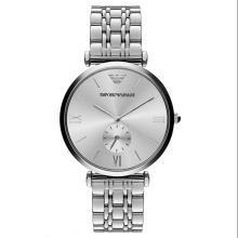[支持購物卡]阿瑪尼(EmporioArmani)手表 鋼制表帶時尚休閑石英男士腕表AR1819