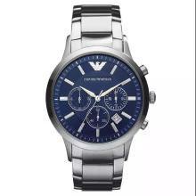 [支持购物卡]阿玛尼(EmporioArmani)手表钢制表带商务时尚休闲石英男士腕表AR2448