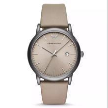 【支持购物卡】阿玛尼(EmporioArmani)手表 商务皮质表带 显示日力简约时尚男士腕表 AR11116