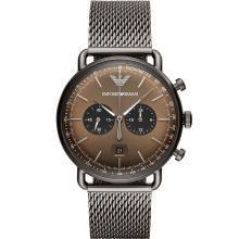 [支持购物卡]阿玛尼(Armani)新款正品手表男 动感时尚编织钢带石英表AR11141