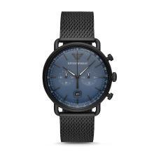 [支持购物卡]阿玛尼(Armani)时尚潮流钢带石英男士手表钢带石英腕表AR11201