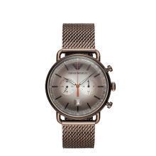 [支持购物卡]阿玛尼(Armani)编织钢带复古潮流石英男士手表AR11169