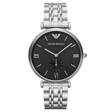 阿瑪尼(Emporio Armani)手表 鋼制表帶商務時尚休閑石英男士腕表 AR1676