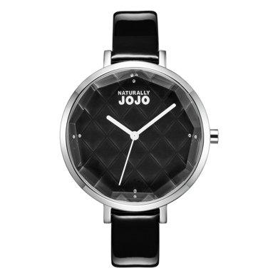 NATURALLY JOJO SIMPLE系列特殊切割表盤纖細皮帶簡約女表JO96810-88F