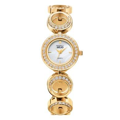 NATURALLY JOJO LIBERTY系列時尚個性鑲鉆手鐲表JO92258-13K