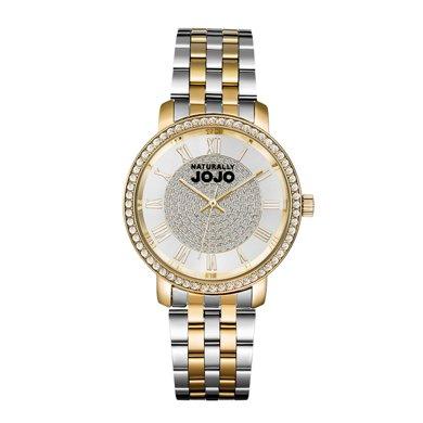NATURALLY JOJO 熱賣推薦 SHINE系列時尚鑲施華洛鉆大表盤鋼帶女表JO0778-80K
