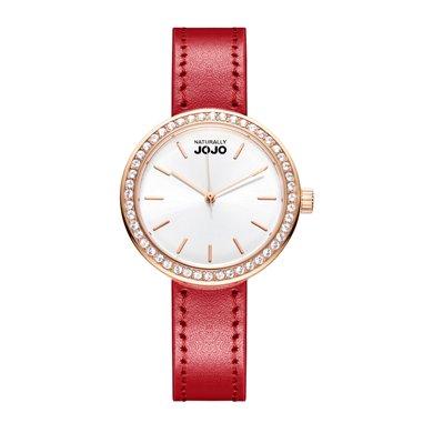 NATURALLY JOJO 新款時尚簡約施華洛鉆皮帶腕表JO99001