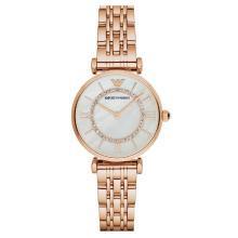 阿玛尼(EmporioArmani)满天星手表 钢制表带经典时尚休闲石英女士时尚腕表AR1909