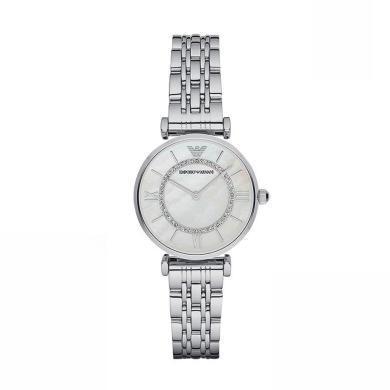 [支持購物卡]阿瑪尼(Emporio Armani)滿天星手表 鋼質表帶女士經典時尚休閑石英腕表 AR1908