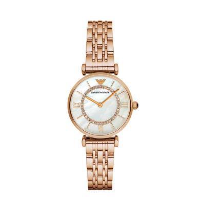 [支持購物卡]阿瑪尼(EmporioArmani)滿天星手表 鋼制表帶經典時尚休閑石英女士時尚腕表AR1909
