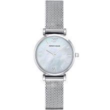 [支持购物卡]阿玛尼(Armani)休闲小巧手表女 钢带潮流简约石英表AR1955