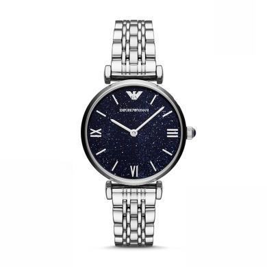 [支持购物卡]阿玛尼(Armani)时尚休闲简约石英女士腕表钢带 AR11091