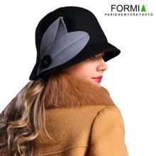 FORMIA芳美亚 羊毛帽子 软帽 礼帽帽子女士秋冬帽保暖帽韩版帽SM6951005