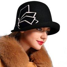 FORMIA芳美亚 女士秋冬羊毛羊绒礼帽大时装帽保暖圆顶帽子SM6951001