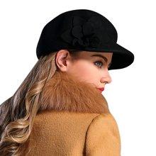 FORMIA芳美亞 韓版秋冬帽子英倫禮帽羊毛帽女士帽羊毛帽復古帽SM6951007