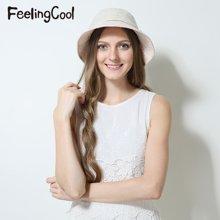 飞兰蔻女士纯色蕾丝气质淑女遮阳帽 舒适太阳帽 夏帽