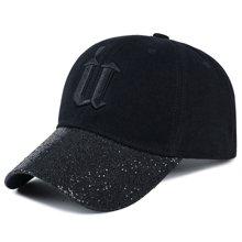 DAIYI戴奕帽子U字样亮片时?#20449;?#27454;棒球帽遮阳鸭舌帽