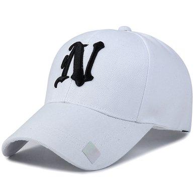 DAIYI戴奕帽子N字刺繡男女同款棒球帽四季遮陽休閑鴨舌帽