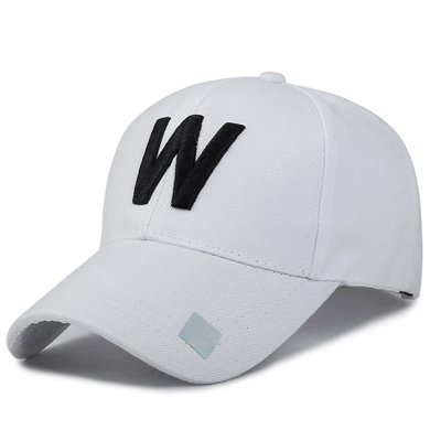 DAIYI戴奕帽子時尚W字樣簡約戶外遮陽中性棒球帽鴨舌帽