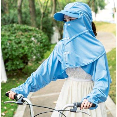 DAIYI戴奕帽子 女式夏季遮阳帽 遮脸遮阳防风防晒多功能户外帽子
