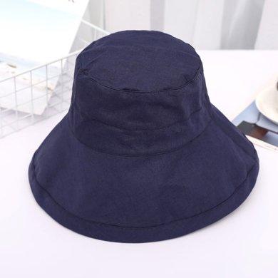 DAIYI戴奕帽子 【專柜同款】亞麻成分純色平頂時尚遮陽漁夫帽