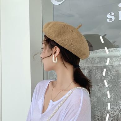 楊同學帽子女貝雷帽夏季薄款透氣畫家帽韓版潮日系南瓜帽網紅ins蓓蕾帽